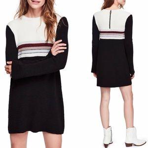 Free People Color-block Sweater Dress